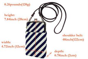 帆布×インクジェットプリント・ショルダーポーチ・ストライプ・日本製