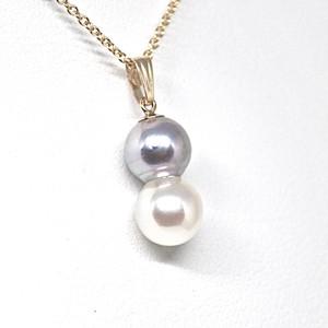 【希少!】あこや本真珠のツインパールネックレスV