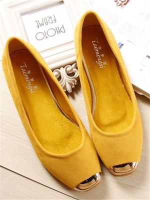 【shoes】Fashion design solid color flat shoes