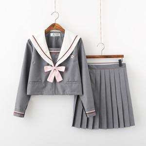9871セーラー服 コスチューム jk制服 女子高生服 制服 セット 夏 春秋 長袖 半袖 ワイシャツ+スカート レディース 可愛い ショートプリーツスカート