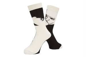 WHIMSY / AFTERNOON DELIGHT SOCKS -WHITE-