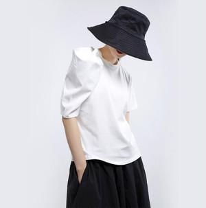 丸襟 デザイン Tシャツ エレガント おしゃれ 夏 人気 2色