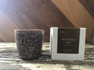 『BIRDS' WORDS』バーズワーズ PATTERNED CUP パターンカップ  smoke brown