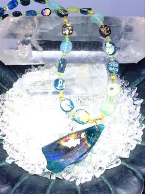 奇跡の産物‼1点物‼ ローマンガラス・ネックレス⑦