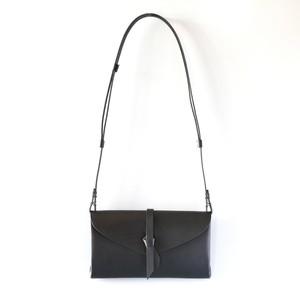 折りショルダーウォレット #黒 / ori shoulder wallet #black 長財布