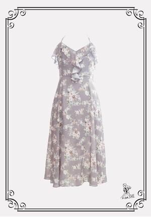 【完売御礼】Flower Cami Dress / 花柄キャミワンピース