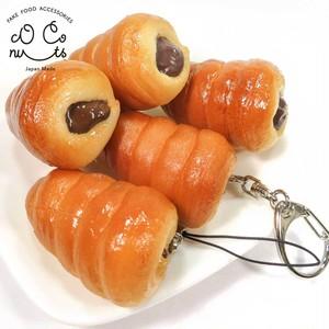 チョココロネ 食品サンプル キーホルダー ストラップ
