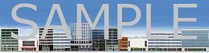 ジオラマ用背景画 商業ビル群