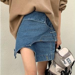 【ボトムス】ショート丈個性的ファッションデニムスカート39862728