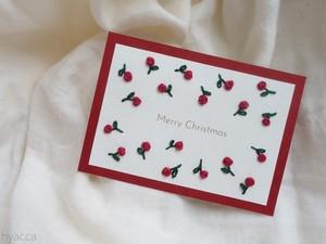 小花柄のクリスマスカード
