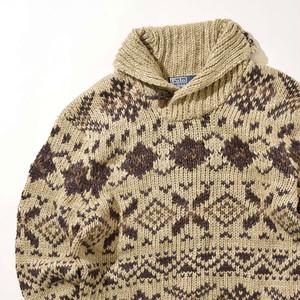 【Mサイズ】Polo Ralph Lauren ポロラルフローレン Cowichan Sweater セーター KHA カーキ M 400604191207