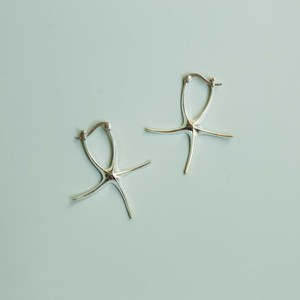 JEPUN starfish pierced earrings -silver-
