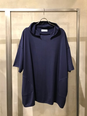 T/f jersey half sleeve hoodie - deep sea