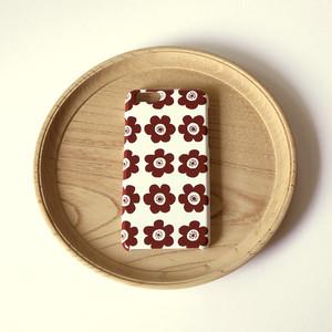 anemone ( brown ) ハードケース型スマホケース【受注生産】★ Lサイズは+400円