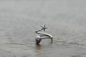 トゥリング / スターフィッシュ&シェル Silver925 / ホワイト