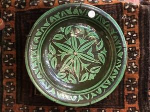 アフガニスタン アンティーク陶器皿