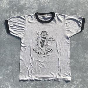 70's 80's SCREEN STARS リンガーTシャツ  BOAR BASH USA製  Mサイズ  グレー 霜降 ヴィンテージ
