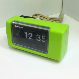 sankyo パタパタ時計【ライムグリーン】(0902215S60)