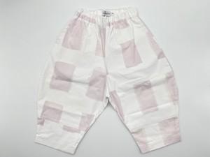 【21SS】フランキーグロウ ( frankygrow )ORIG CHECK BIG PANT[ LL ]white-pink パンツ