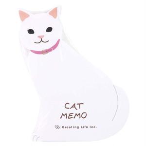 【白猫】アニマルダイカットメモ【しろねこ ETN-125】