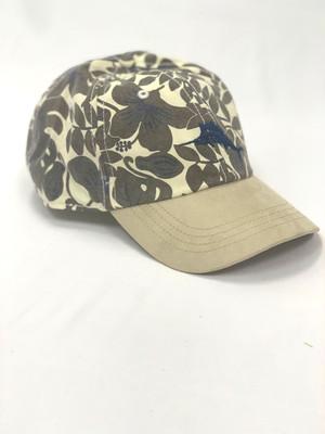 NC-VINTAGE BOLD FLORAL CAP/TEA LEAF