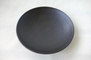 【予約受付中】【輪島キリモト】高麗大皿 蒔地 黒