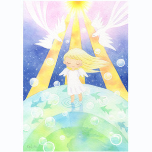 水彩作品【星の歌】