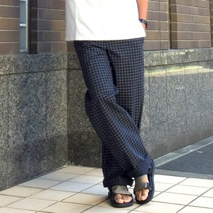 Yarn Dyed Chef Pants D.Navy×White Windowpane