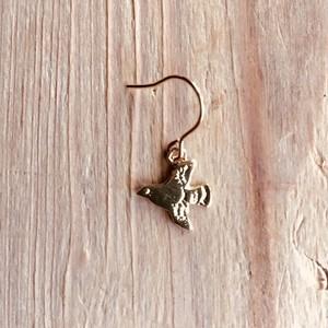 Swing bird earring   Silver / Gold