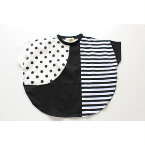 【UNICA】211-1559 モノトーン円形Tシャツ 100-140㎝