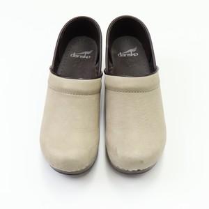 【dansko】Sabo Ivory  Lather Shoes ダンスコ プロフェッショナル クロッグス サボ レザーシューズ アイボリー
