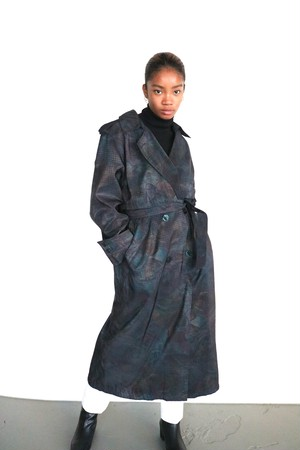 Vintage pattern trench coat