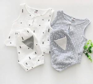 即納 コットンタンクシャツ&パンツ co025