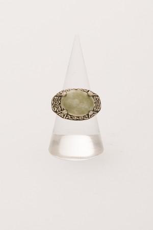 【Run Rabbit Run Vintage 】Green stone ring