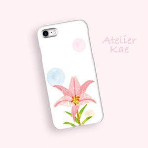 スマホケース「ユリの花のメロディー」iPhone/Android対応 【受注生産】
