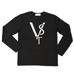 VST Logo Print Long T-shirt(Black)
