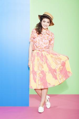 60's used skirt(sk-07)