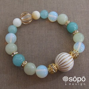 031. power stone jewelry bracelet -green-