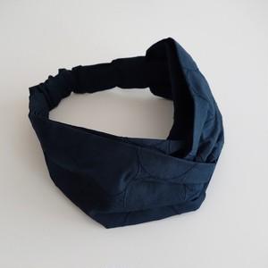 しゃぼん刺繍のヘアバンド ネイビー