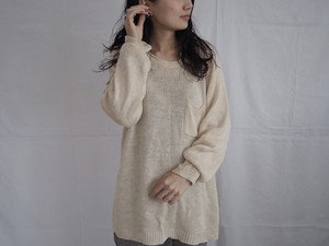 1980's Linen100% spring knit