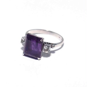 Vintage Japanese Ring - K14WG Amethyst Color #11.5