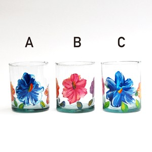 EREACHE PUEBLA GLASS エレアチェ グラス小 花ペイント メキシコ プエブラ