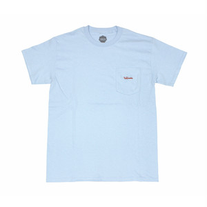 FLOWGRESSIVE FG TAG POCKET TEE BY ELI MORGAN GESNER LT BLUE