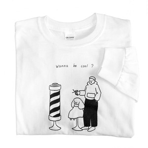 Barber long t-shirts White
