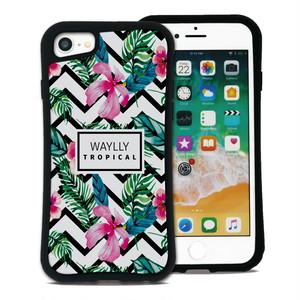 トロピカル ハイビスカス セット WAYLLY(ウェイリー) iPhone 8 7 XR XS X 6s 6 Plus XsMax対応!_MK_
