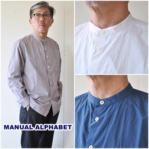 マニュアルアルファベット MANUALALPHABET バンドカラーシャツ MA-S-489  メンズシャツ