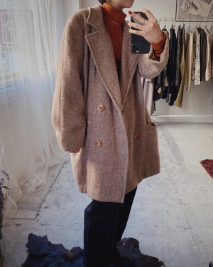 80's vintage made in USA wool coat
