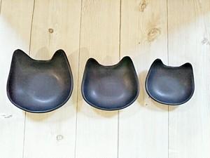 猫ボウル 3個セット ブラック