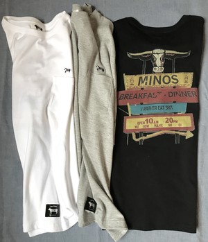 MINOS EAT SHIT LOOSE FIT S/S TEE ポケット付きビッグシルエット
