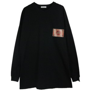 LEATHER PATCH OVERSIZED LONG TEE
